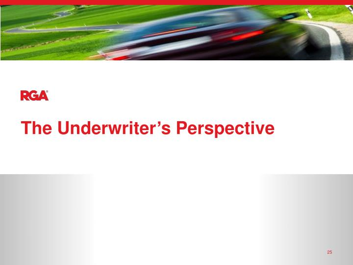 The Underwriter's Perspective
