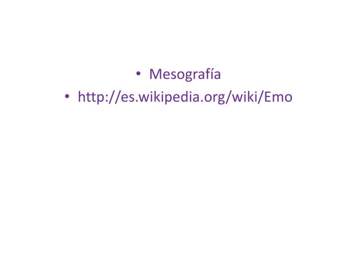 Mesografía
