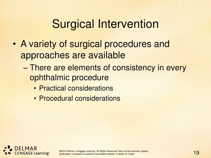 Surgical Intervention