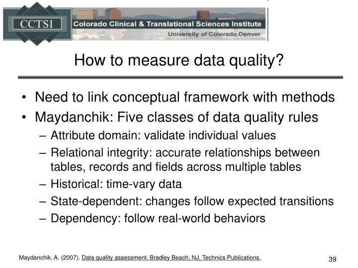 How to measure data quality?