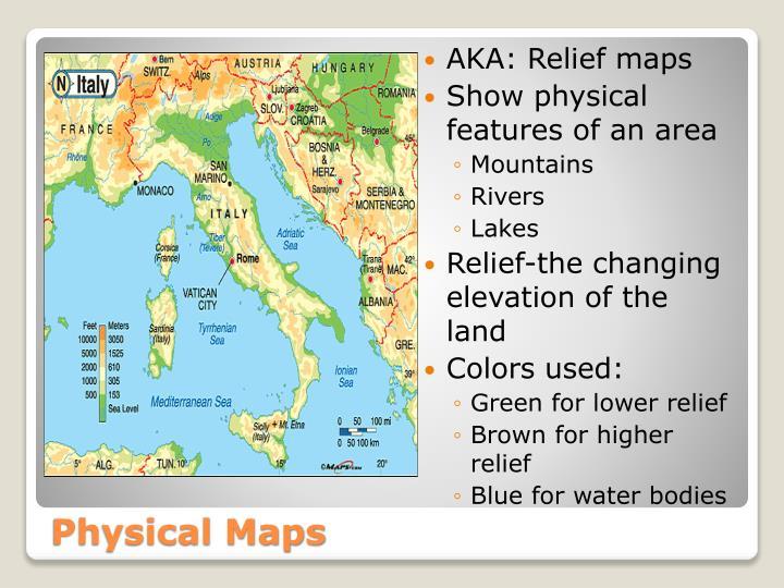 AKA: Relief maps