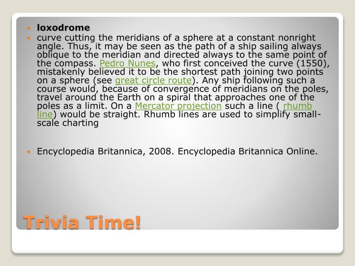 loxodrome