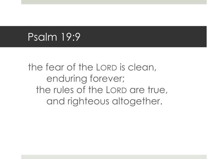 Psalm 19:9