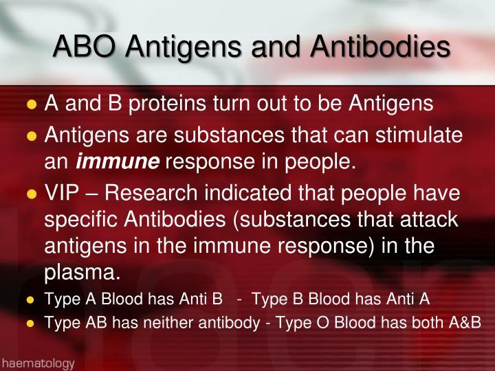 ABO Antigens and Antibodies