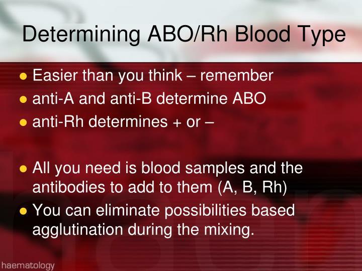 Determining ABO/