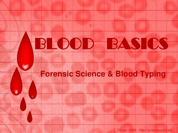 blood basics n.