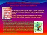 dampak bahan berbahaya terhadap kesehatan tubuh anak sekolah