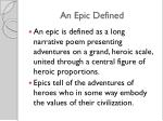 an epic defined