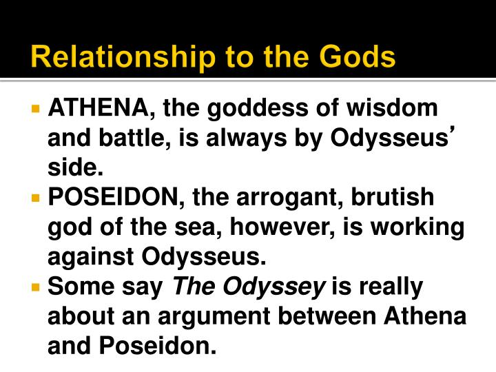 Relationship to the Gods