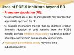 uses of pde 5 inhibitors beyond ed