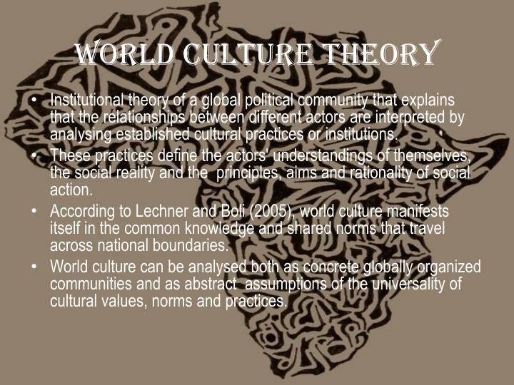 World culture Theory