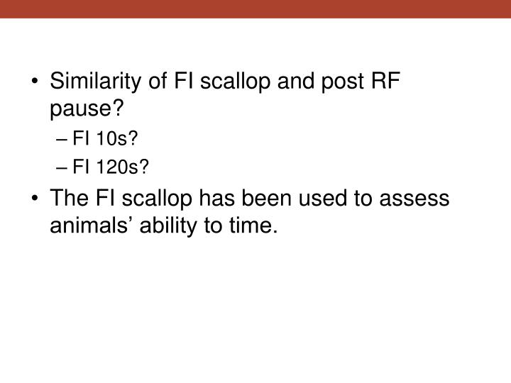 Similarity of FI scallop and post RF pause?