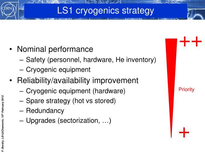 LS1 cryogenics strategy