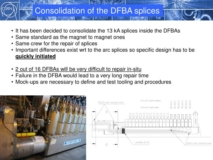 Consolidation of the DFBA splices