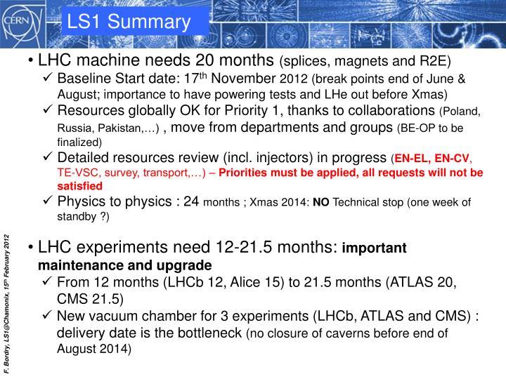 LS1 Summary