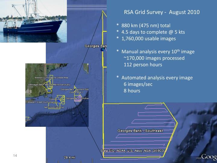 RSA Grid Survey -  August 2010