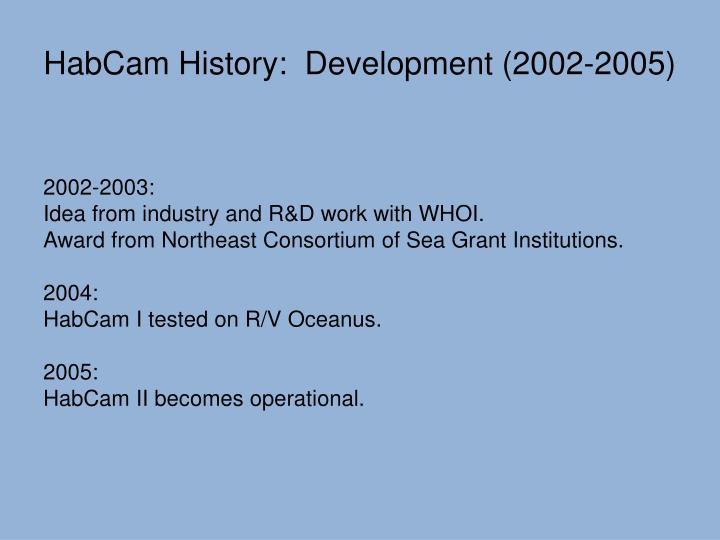 HabCam History: