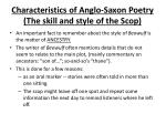 characteristics of anglo saxon poetry the skill and style of the scop