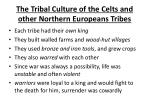 the tribal culture of the celts and other northern europeans tribes