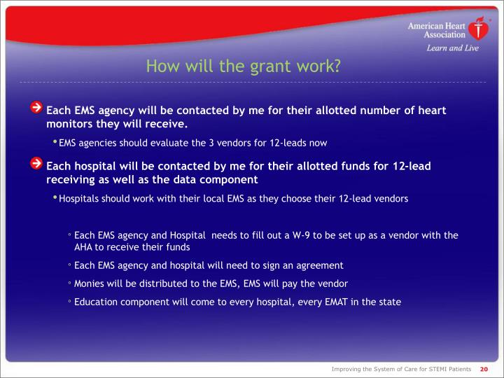 How will the grant work?