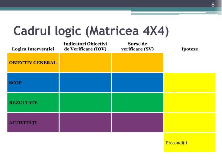 Cadrul logic (Matricea 4X4)
