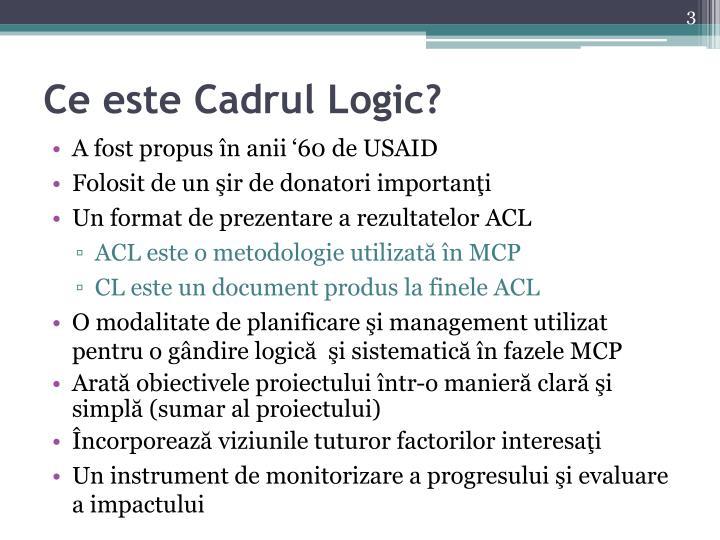 Ce este cadrul logic