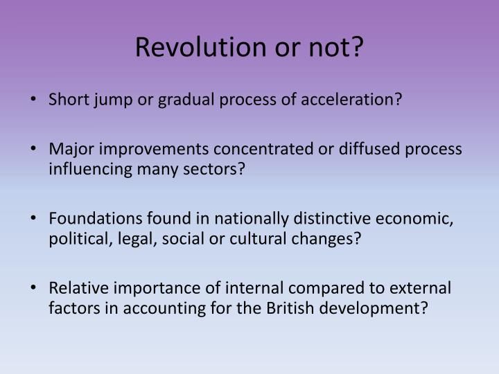 Revolution or not?