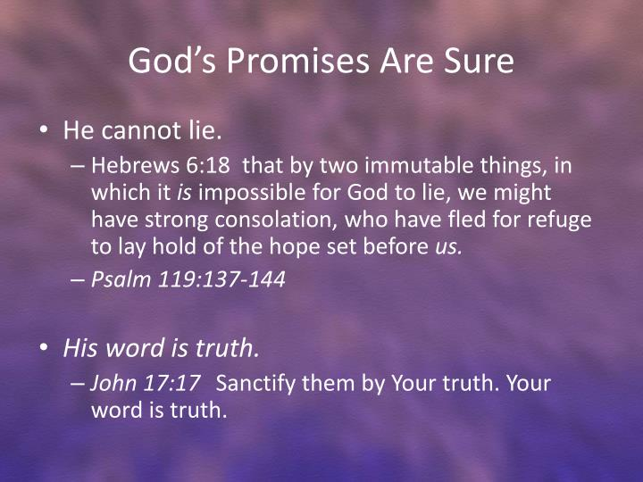 God s promises are sure