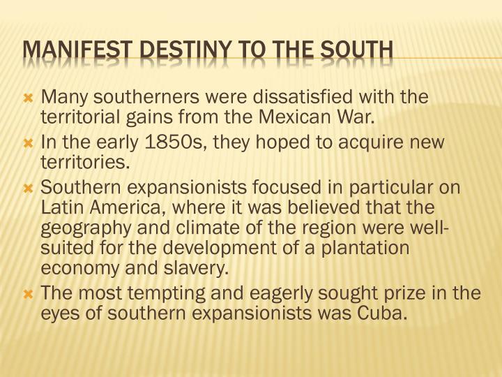 manifest destiny 3 essay