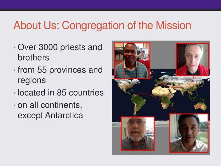 About us congregation of the mission