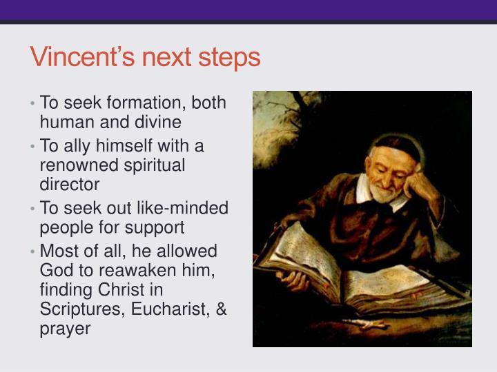 Vincent's next steps