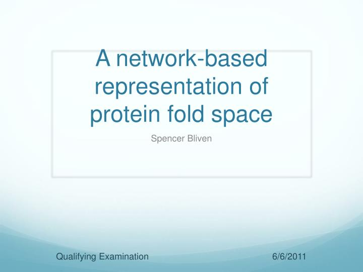 a network based representation of protein fold space n.