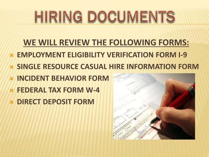 hiring information