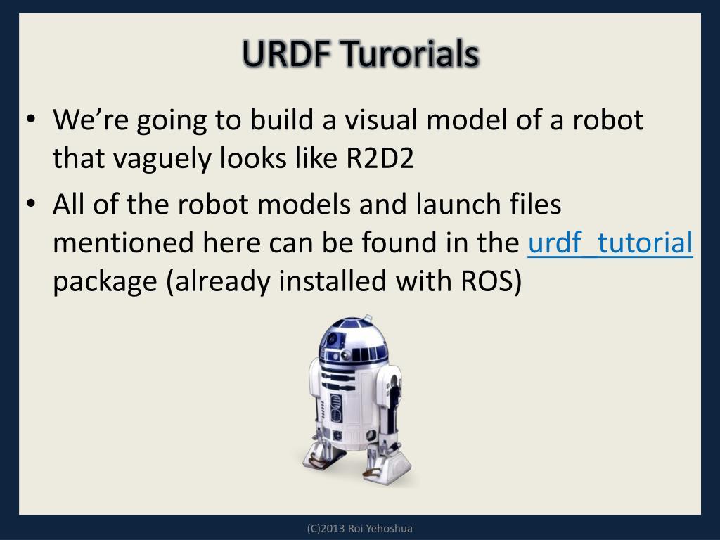 Ros publish urdf
