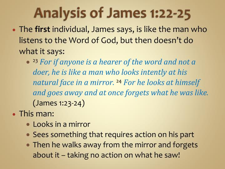 Analysis of James 1:22-25