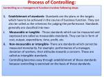process of controlling
