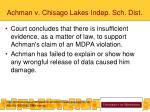 achman v chisago lakes indep sch dist