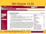 mn statute 13 32