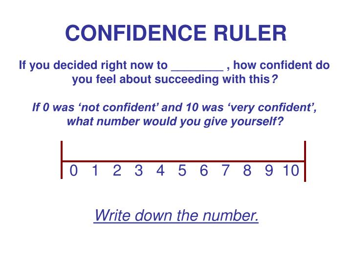 CONFIDENCE RULER