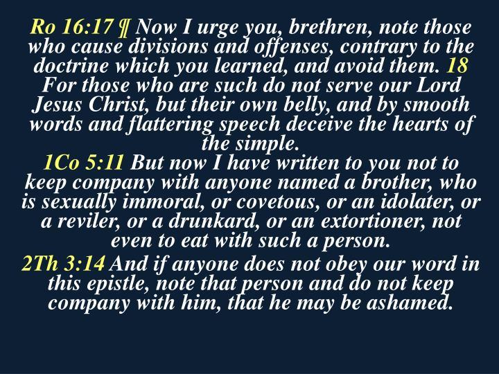 Ro 16:17 ¶