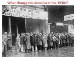 what changed in america in the 1930s