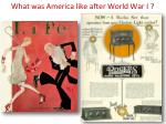 what was america like after world war i