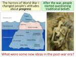 what were some new ideas in the post war era