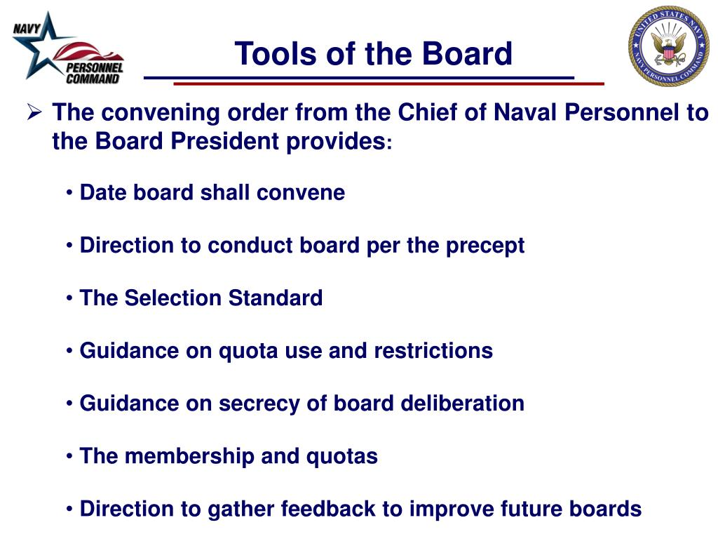 PPT - Enlisted Advancement Selection Boards Navy Personnel