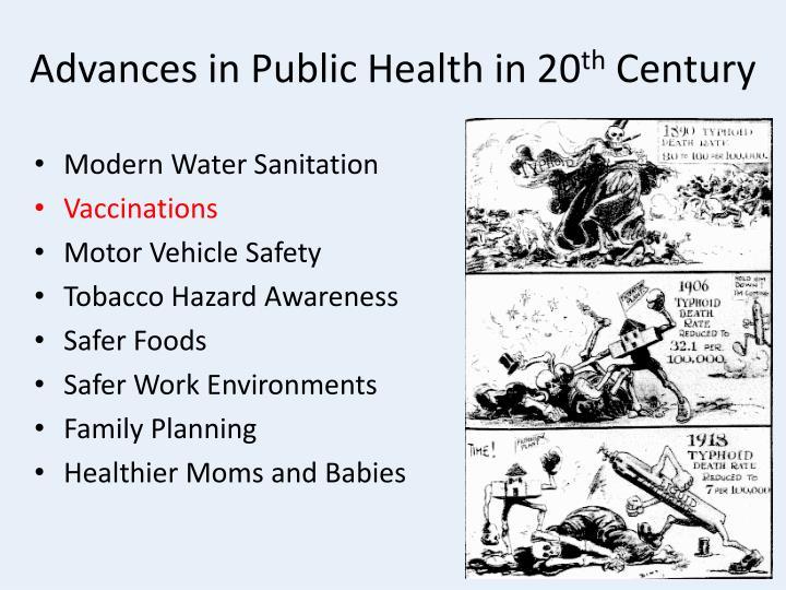 Advances in public health in 20 th century