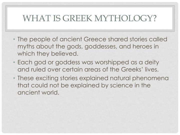 What is greek mythology