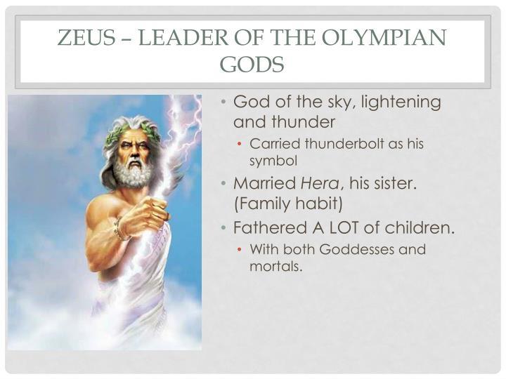Zeus – Leader of the Olympian Gods