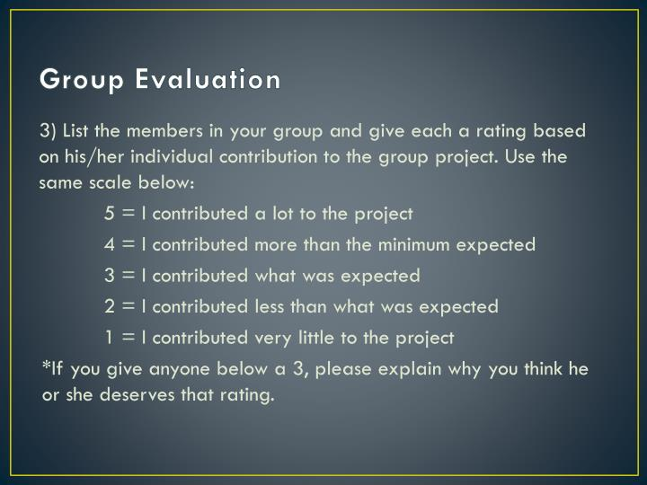 Group Evaluation