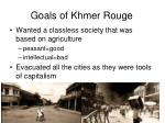 goals of khmer rouge