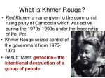 what is khmer rouge
